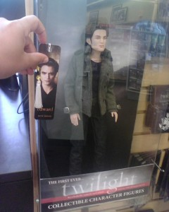 Look how big this Edward Cullen doll is compared to a bookmark. Who the fuck would pay $150 for this?!