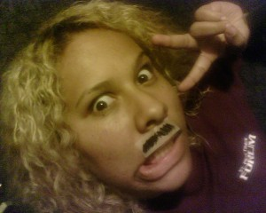 Tape Stache #1 - Creepy how real it looks, haha.