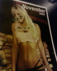 I love your stache, Ms. November.
